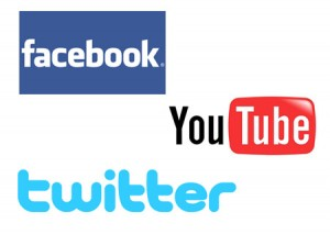 Facebook YouTube and Twitter logs